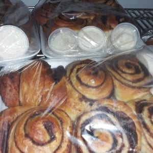 3 Cinnamon Buns with Butter Cream Icing (Large)